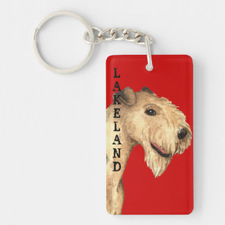 Lakeland Terrier Color Block Keychain