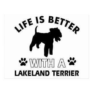 Lakeland Terrier Dog breed designs Postcard