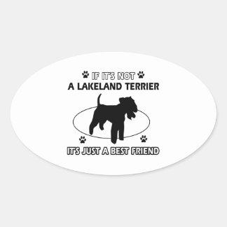 LAKELAND TERRIER dog designs Oval Sticker