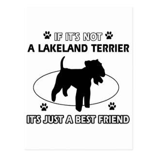 LAKELAND TERRIER dog designs Postcard