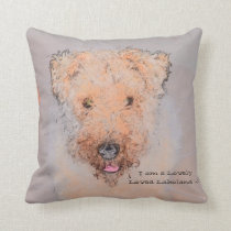 Lakeland terrier happy dog Pillow