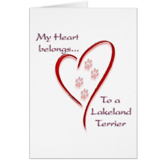 Lakeland Terrier Heart Belongs Card