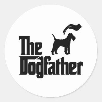 Lakeland Terrier Etiquetas Redondas