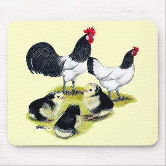 Lakenvelder Chicken Family Mouse Pad