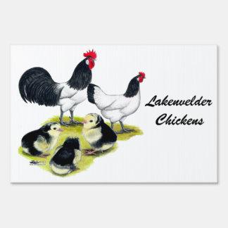 Lakenvelder Chicken Family Sign