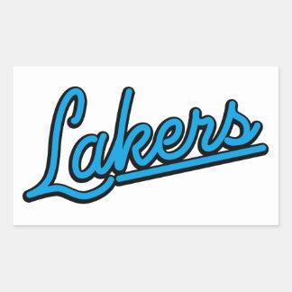 Lakers in cyan rectangular sticker
