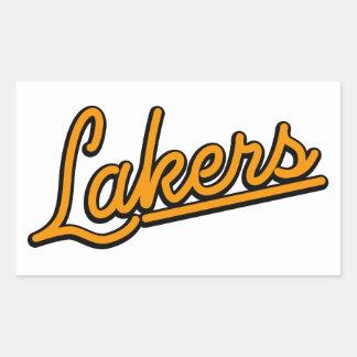 Lakers in orange rectangular sticker