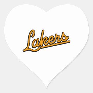 Lakers in orange heart sticker
