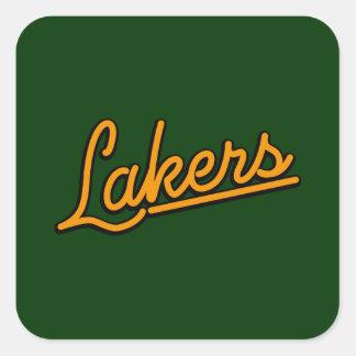 Lakers in orange square sticker