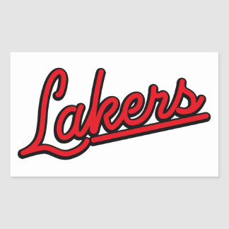 Lakers in red rectangular sticker