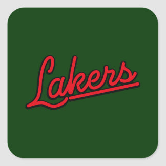 Lakers in red square sticker