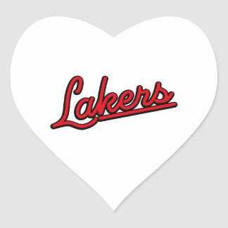 Lakers in red heart sticker