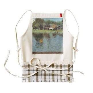Lakes and cottages zazzle HEART apron