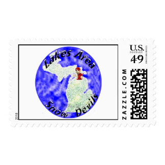 Lakes Area Snowdevils Postage