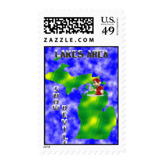 Lakes Area Snowdevils Postage Stamp