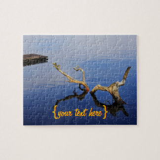 Lakes Edge Abstract Tranquility Jigsaw Puzzle