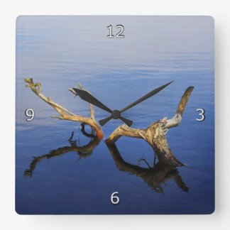 Lakes Edge Abstract Tranquility Square Wall Clock