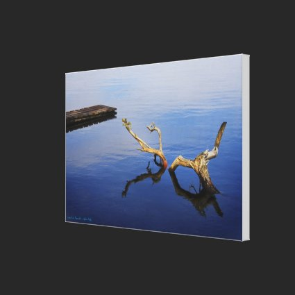Lake's Edge Tranquility - wrapped canvas Gallery Wrapped Canvas