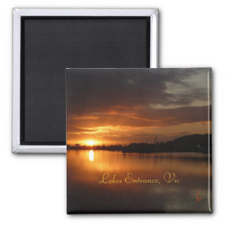 Lakes Entrance, Vic 2 Inch Square Magnet
