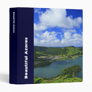 Lakes in the Azores 3 Ring Binder