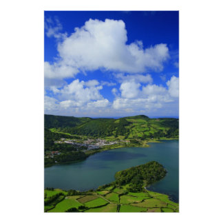 Lakes in the Azores Poster