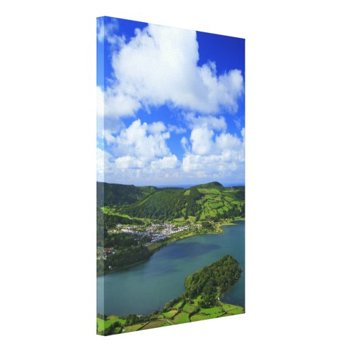 Lakes in the Azores Stretched Canvas Prints
