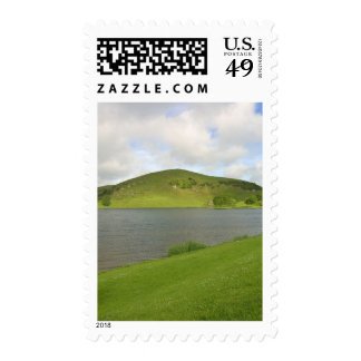 Lakes Loughs Gur Hills Clouds Ireland Postage Stamps