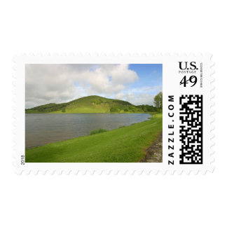 Lakes Loughs Gur Hills Clouds Ireland Postage Stamp