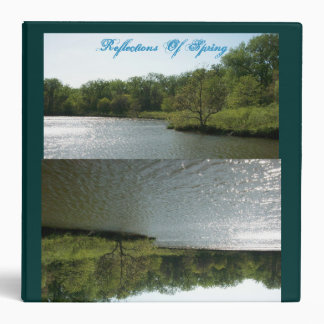Lakes Reflection In The Afternoon. 3 Ring Binder