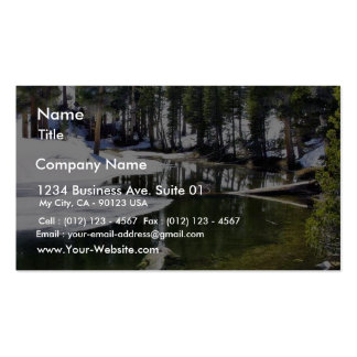 Lakes Snow Trees Forrests Business Card Template