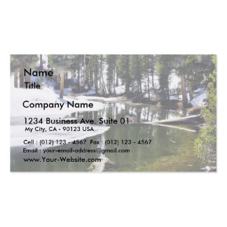 Lakes Snow Trees Forrests Business Cards
