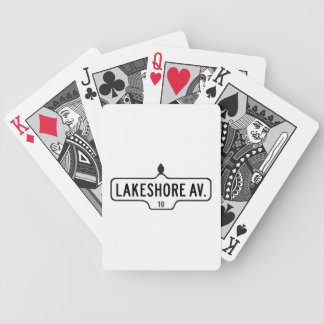 Lakeshore Avenue, Toronto Street Sign Bicycle Playing Cards