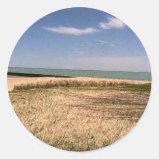 lakeshore round sticker