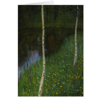 Lakeshore with Birches - Gustav Klimt Card