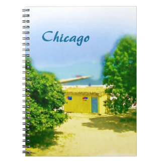 Lakeshores of the Chicago Beach Spiral Notebook