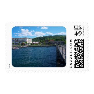 lakeside at Watkins Glen Postage Stamp