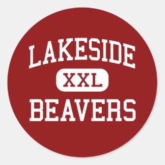 Lakeside - Beavers - High - Lake Village Arkansas Classic Round Sticker
