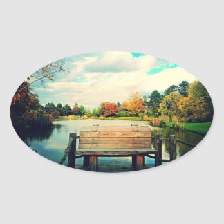 Lakeside Bench Oval Sticker