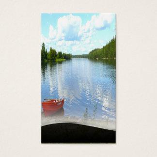 Lakeside Boat Artistic Lakeside Scene Business Card
