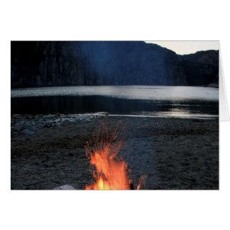 Lakeside Bonfire Stationery Note Card