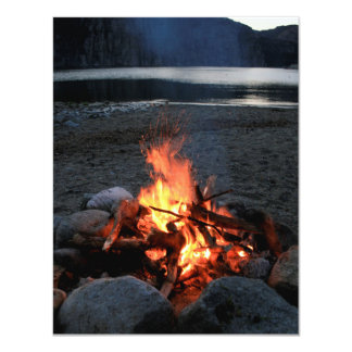 Lakeside Bonfire Card