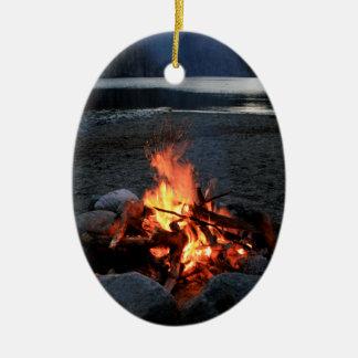 Lakeside Bonfire Ceramic Ornament