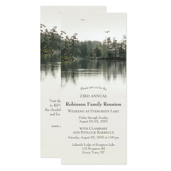 Lakeside Family Reunion Camping Jamboree Barbecue Invitation