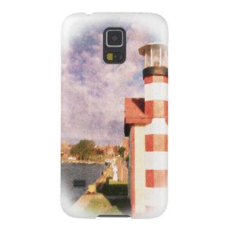 Lakeside Harbor Vignette Galaxy S5 Cases