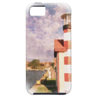 Lakeside Harbor Vignette iPhone SE/5/5s Case