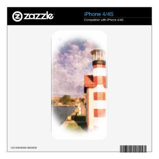 Lakeside Harbor Vignette Skins For iPhone 4S