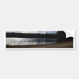 Lakeside in Autumn Bumper Sticker