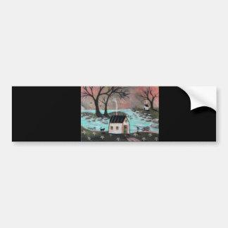 Lakeside Isle Seascape Bumper Sticker