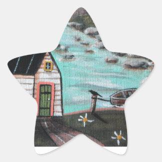 Lakeside Isle Seascape Star Sticker