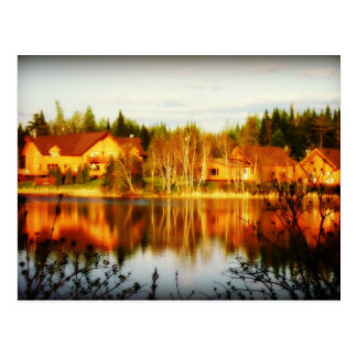 Lakeside Lodge,Grand-Falls NB. Postcard